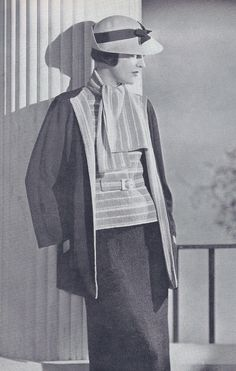 Vintage Knitting Pattern to Make 30s Three Piece Knit Suit Jacket Sweater Skirt | eBay