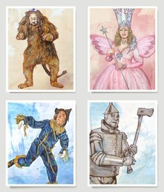 The Wizard of Oz Collection - Wizard Of OZ Art  -  Free Shipping in the US - 8x10 on Etsy, $50.00