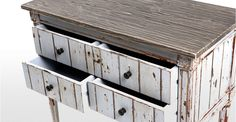 Bourbon Vintage Cabinet in distressed grey | made.com