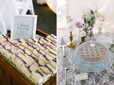 Our Wedding Day, Farm Wedding, Wooden Arbor, Wedding Favours, Vows, Charleston, Buffet, Table Decorations, Pie