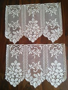 2 x Curtain Pelmet Valance Lace French by FromParisToProvence, €12.00