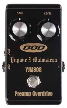 DOD YNGWIE MALMSTEEN YJM 308 PREAMP OVERDRIVE NEW