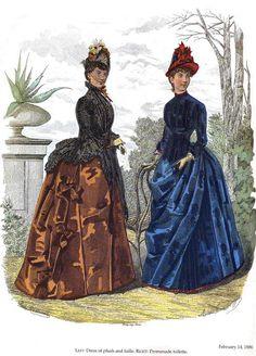 Иллюстрации журнала мод 1886г. La Mode illustrèe 1886