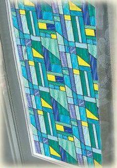 Rhapsody Stained Glass Privacy Window Film--RH