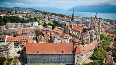 Lausanne - Switzerland's gourmet city. Lausanne, Places In Switzerland, Visit Switzerland, Honeymoon Spots, Heart Of Europe, Belle Villa, Alps, Luxury Travel, Cool Places To Visit