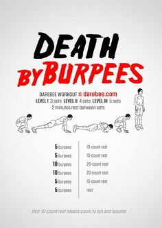 This is it...screw walking, screw running...from now until I look banging in a bikini - it'll be Death By Burpees...I'll build up to 3x a day...get ready world...Mandy is coming at ya...(Wod)