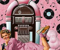 pink 1950 jukebox