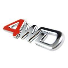 Free Shipping 4wd car emblem 4x4 four wheel emblem