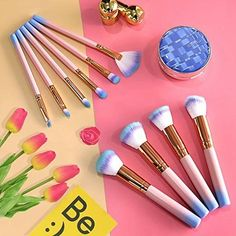 10 Pcs Pink Makeup Brushes Set Professional Brushes for Face Makeup Foundation – Makeup Natural Source by Makeup_Natural Ankara Nakliyat Diy Makeup Brush, Makeup Brush Storage, Makeup Bag Organization, Makeup Remover, Makeup Primer, Makeup Palette, Affordable Makeup Brushes, Best Makeup Brushes, It Cosmetics Brushes