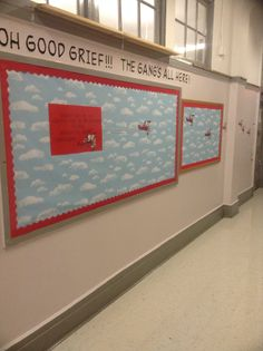 Snoopy's Welcome Back to School Kindergarten Bulletin Board