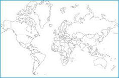 World outline map in mercator projection grayscale a data pin images world map outline google search gumiabroncs Choice Image