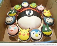 Pokemon cake & cupcakes. #pokemon #cake #cupcakes