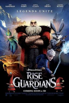 """Here is a new movie poster for DreamWorks Animation's upcoming movie """"Rise Of The Guardians."""" The animated movie will arrive in theaters on November 2012 . Dreamworks Movies, Dreamworks Animation, Cartoon Movies, Disney Movies, Animation Movies, Rise Of The Guardians, Shrek, Mary Poppins 1964, Animation"""
