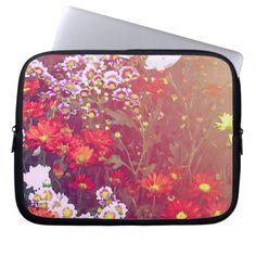 beautiful floral art sleeve laptop computer sleeve