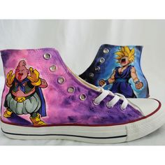 Dragon Ball Z Hand Painted Shoes Custom High Tops Painted Canvas Shoes, Hand Painted Shoes, Painting Shoes, Unique Christmas Gifts, Dragon Ball Z, On Shoes, Converse Chuck Taylor, High Tops, High Top Sneakers