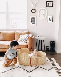 Sunday mornings are the best ☀️💕 We hope you have a lovely day! Thanks for sharing this gorgeous shot of our Rowan sofa, 😍 Dining Room Colors, Beautiful Sofas, 3 Seater Sofa, Mid Century Modern Design, White Rug, Living Room Inspiration, Baby Design, Leather Sofa, Toddler Bed