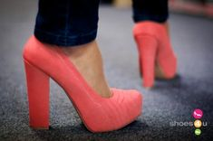 Qupid Trish- Coral Chunky Heel Platform Pump #shoes, #women, https://facebook.com/apps/application.php?id=106186096099420