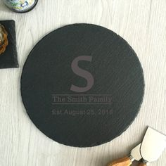 Personalized circle cheese cutting board Custom cheese platter slate coworker gifts anniversary gift housewarming gift,gift for family Slate Cheese Board, Slate Board, Cheese Cutting Board, Cheese Platters, Gifts For Coworkers, Graduation Gifts, Gifts For Family, House Warming, Anniversary Gifts