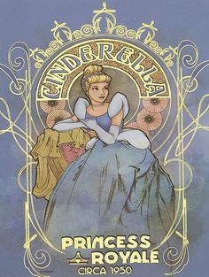 Disney Art Nouveau//Cinderella. @Brenna Ehster these are the ones I have seen and thought of when you mentioned it!