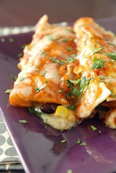Delicious Vegetable Enchiladas - So simple and flavorful that you won't miss the meat!