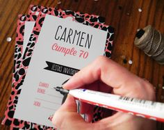 Un diseño con mucho cariño para el cumple de Carmen. Las invitaciones y las tarjetas para souvenirs quedaron hermosas! ¡Hace tu fiesta más linda!  #DaleON #Invitaciones #Cumpleaños