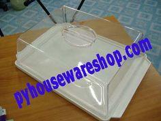 กล่องเค้กฝาใสทรงสี่เหลี่ยม,กล่องโชว์เค้ก,โชว์ขนมมีฝาครอบปิด