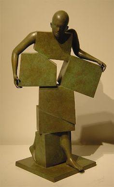 Sculpture...Stunning...Michela#peuple de papier: Jean-louis Corby