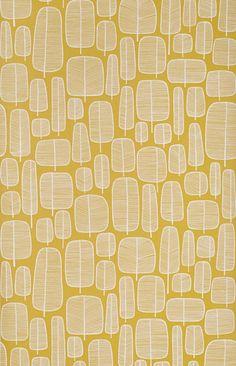 Behang Little Trees geel MISP1060