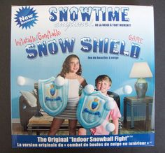Snowtime Anytime 2 Inflatable Snow Shields & 6 Soft Snowballs For Snowball Fight