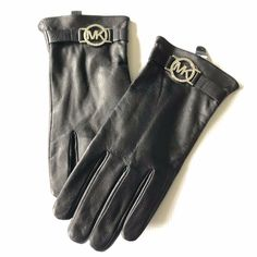CASUAL WOMENS CLASSIC SOLID BLACK 100/% LEATHER GLOVES with LINING S M L XL
