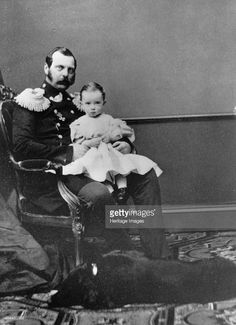 Tsar Alexander II of Russia with his son, Grand Duke Paul Alexandrovich, c1860-c1861. Alexander (1818-1881) was Tsar from 1855. Known as 'The Liberator', he emancipated Russia's serfs in 1861. The pace of reform under Alexander's rule was too slow for som