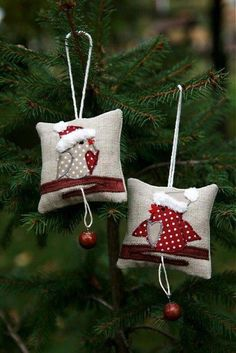 Fabric Christmas Ornament Ideas