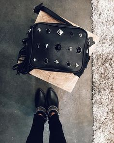 D U B A I  black  #leather #aw16 #wildsecret #dubai