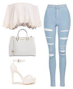 """""""Untitled #50"""" by faith-ajayi ❤ liked on Polyvore featuring Topshop, Nly Shoes and MICHAEL Michael Kors"""