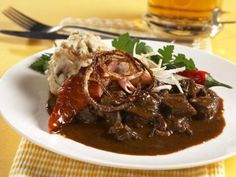 Czech Recipes, New Recipes, Food 52, No Cook Meals, Stew, Food And Drink, Treats, Cooking, Goulash