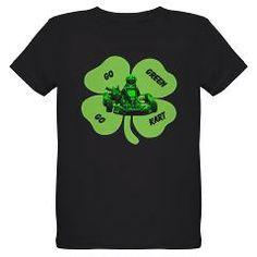 Go Green Go Kart St. Patrick's Day Kart Racing T-Shirt