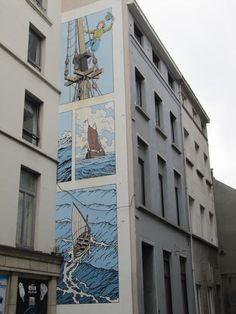 Los cómics protagonizan el street art de Bruselas - Librópatas