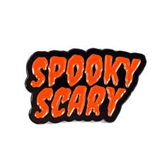 """Fall fright hits new heights with our Spooky Scary pin. It's the perfect season's greetings this October! • 1"""" Hard Enamel Pin"""