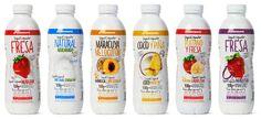 Diseño del Packaging de Yogures Líquidos de Supermercados Consum por Puigdemont Roca Design Agency