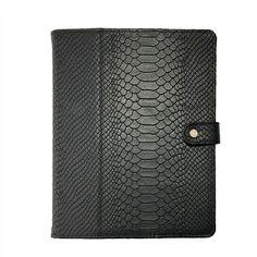 Black iPad Case   Embossed Python Leather   GiGi New York