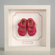 Keepsake Frame to display a child's first shoes