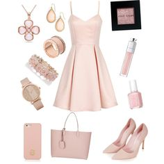 pink day by xxfrozengirlxx on Polyvore featuring polyvore fashion style Girls On Film Topshop Gucci Allurez Michael Kors Kate Spade ALDO Oasis Tory Burch Bobbi Brown Cosmetics Essie
