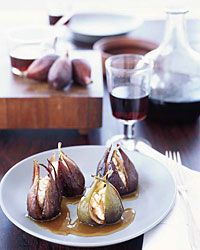 Goat Cheese-Stuffed Roasted Figs Recipe from Food & Wine