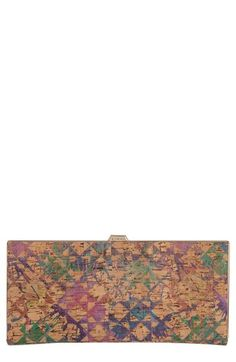 Lodis 'Andra' Print Italian Cork Clutch Wallet available at #Nordstrom