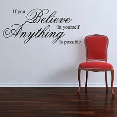 'If You Believe' Wall Sticker Quote