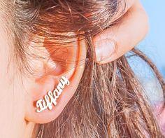 Elea Jewelry Name Earring // #Shopping