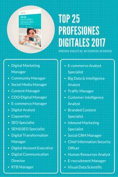 25 Profesiones Digitales 2017 Inesdi