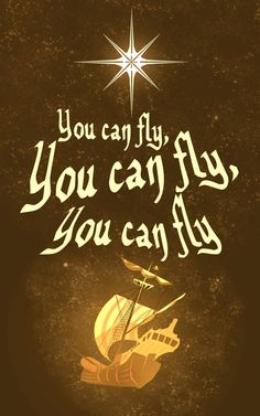 """""""You Can Fly"""" by Robbie Thiessen, via Behance #peterpan #disney #graphicdesign #youcanfly"""