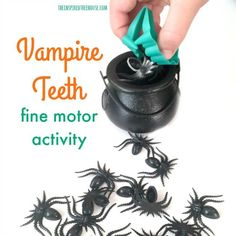 The Inspired Treehouse - We bet you've never used this classic Halloween prop as a fine motor activity!