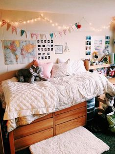 Hey everyone! Dorm room essentials create a stylish space for lounging, studying & sleeping #dormroom Find ideas, products and dorm room decorating tips. From cute dorm room decor and funny college posters to peel & stick wall decor and cheap dorm decorating ideas, has it all! Our dorm room is all about #dormideas #dormroomdecor #dormroomforboys